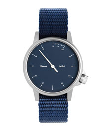 M24 Stainless Steel Watch with Nylon Strap, Navy