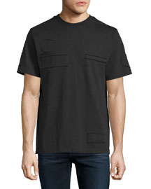 Short-Sleeve T-Shirt with Raw-Edge Patches, Matrix