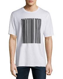 Barcode Logo Short-Sleeve T-Shirt, White