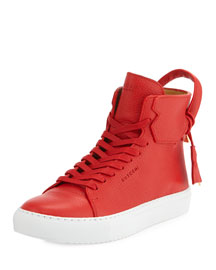 125mm High-Top Sneaker, Red/White