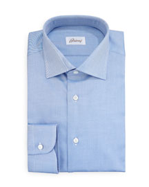 Diagonal Twill Dress Shirt, Blue