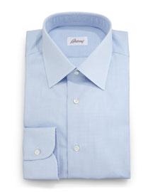 Textured Solid Dress Shirt, Light Blue