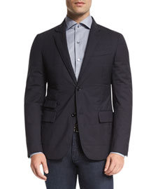 Trofeo� Wool Elements Quilted Blazer, Navy