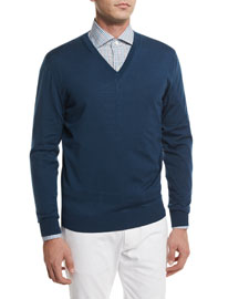 High-Performance Wool Sweater, Teal