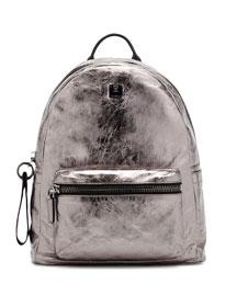 Transformer Foil-Leather Backpack, Gunmetal