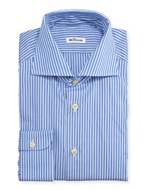 Bengal-Stripe Woven Dress Shirt, Blue