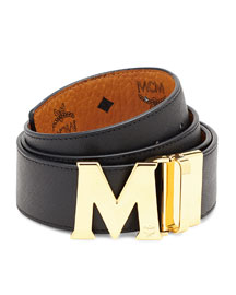 Reversible Visetos Saffiano Leather Belt