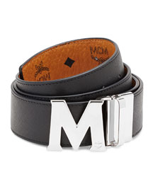 Visetos Reversible M-Buckle Monogram Belt