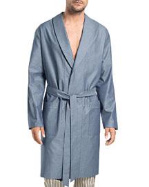 Javier Solid Wrap Robe, Blue
