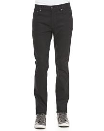 Ace Cash Five-Pocket Jean, True Black