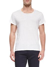 Jersey Crewneck T-Shirt, White