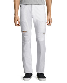 Matchbox Distressed Denim Jeans, White