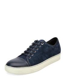 Matte Cap-Toe Low-Top Sneaker