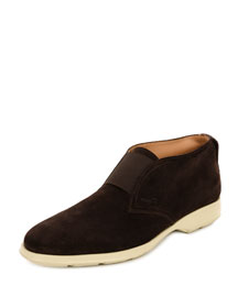 Gart Suede Laceless Chukka Boot, Brown