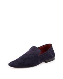 Flex Suede Slip-On Loafer, Blue