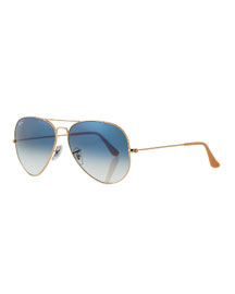 Original Aviator Sunglasses, Golden/Gray