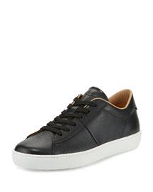 Cassetta Men's Low-Top Leather Sneaker, Black