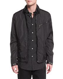 Retford Wind-Resistant Jacket W/Stand Collar, Black