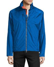 Summit Nylon Water-Resistant Jacket, Royal