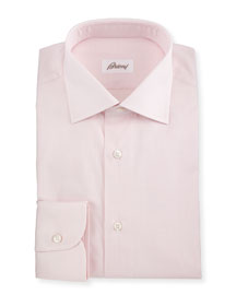 Jacquard Tonal-Plaid Woven Dress Shirt, Pink