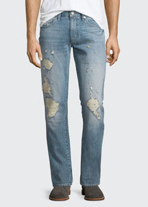 Tyler Destroyed Slim-Fit Denim Jeans, Destructed Kragg