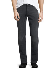 Tyler Straight-Fit Denim Jeans, Orxon Black