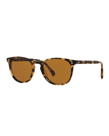 Finley Esq. 51 Acetate Sunglasses, Light Brown