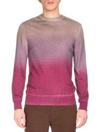 Degrade Long-Sleeve Sweater, Fancy Cactus Flow