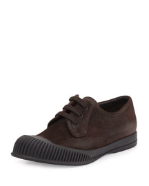 Mud-Guard Suede Low-Top Sneaker, Brown
