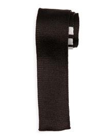 Textured Knit Silk Tie, Dark Gray