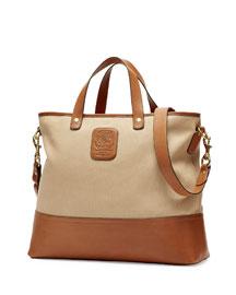 Editor No. 271 Large Twill Tote Bag, Khaki Twill