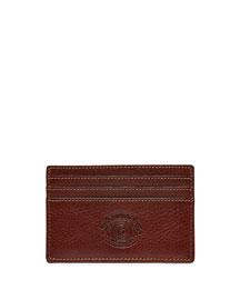 Slim Leather Card Case, Vintage Chestnut
