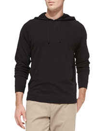 Jersey Flame Hooded Pullover, Black