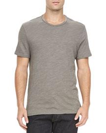 Basic Crew T-Shirt, Charcoal