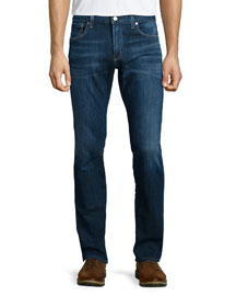 Core Slim-Straight Atticus Denim Jeans, Blue