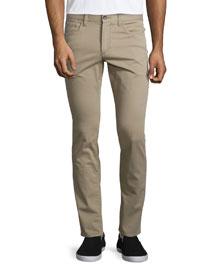 Essential Five-Pocket Stretch-Twill Pants, Khaki