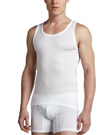 Cotton Pure Tank Top, White