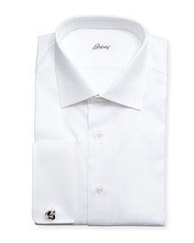 Diamond-Weave French-Cuff Shirt