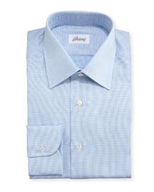 Textured Micro-Check Dress Shirt