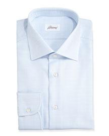 Glen Plaid Dress Shirt, Blue