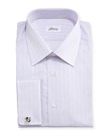 Tonal-Stripe French-Cuff Shirt