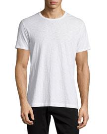 Slub Jersey Crewneck T-Shirt, White