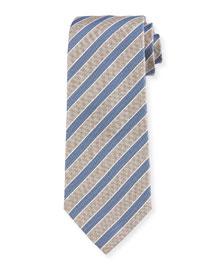 Rep-Striped Silk Tie