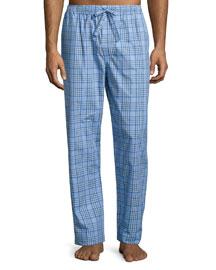 Plaid Pajama Pants, Blue