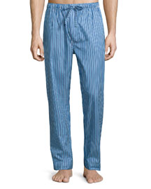 Striped Pajama Pants, Blue