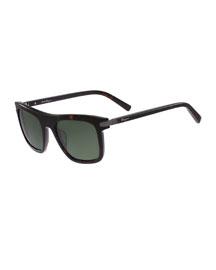 Gancini Flat-Top Plastic Square Sunglasses