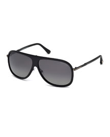 Chris Acetate Sunglasses, Black