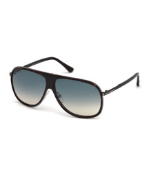 Chris Acetate Sunglasses, Gunmetal