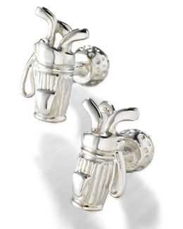 Robin Rotenier Golf Bag & Ball Cuff Links