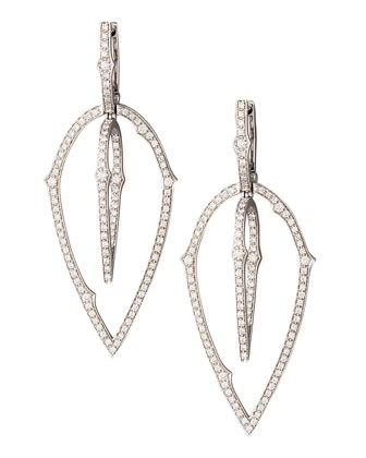 3D White Diamond Earrings